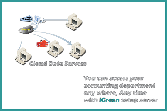 Accounting data in netwrok by iGreen accounting