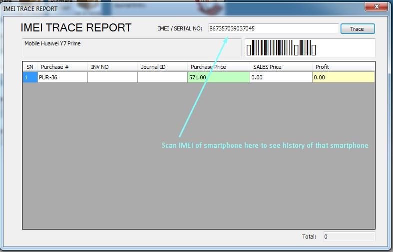 IMEI tracing of smartphones in iGreen